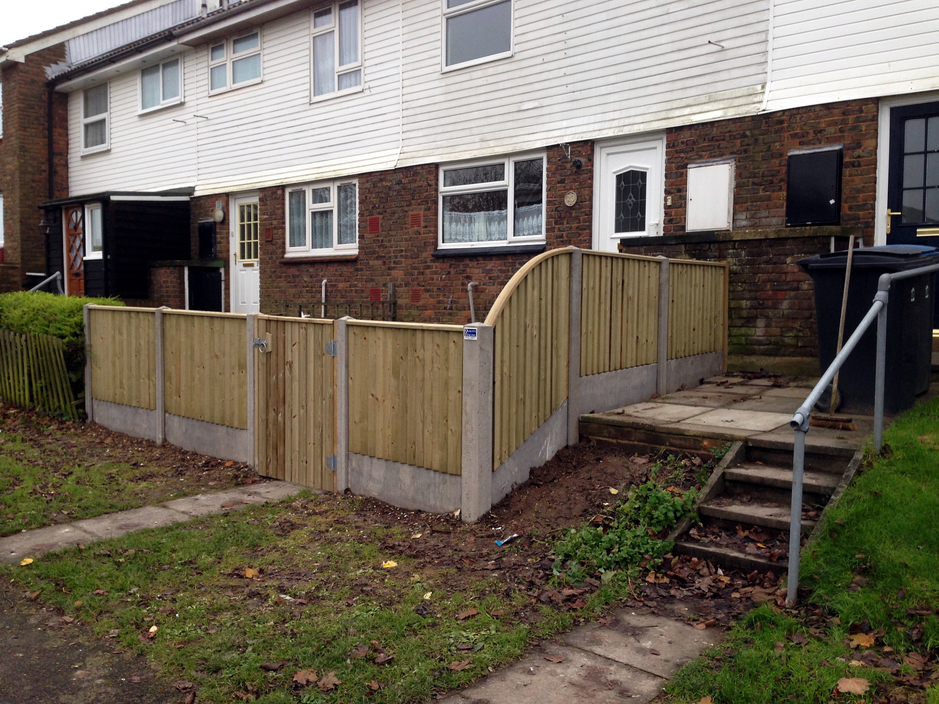 Concrete post fencing suppliers in kent concrete gravel boards are also available to extend the life of timber fence panels by keeping them above soil level baanklon Gallery